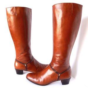 Salvatore Ferragamo Cognac Brown Leather Boots